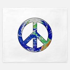 Earth Peace Sign King Duvet