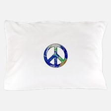 Earth Peace Sign Pillow Case