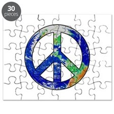 Earth Peace Sign Puzzle