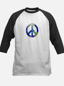 Earth Peace Sign Baseball Jersey