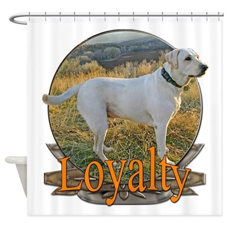 Labrador loyalty Shower Curtain