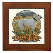 Labrador loyalty Framed Tile