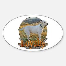 Labrador loyalty Sticker (Oval)