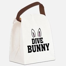 'Dive Bunny' Canvas Lunch Bag