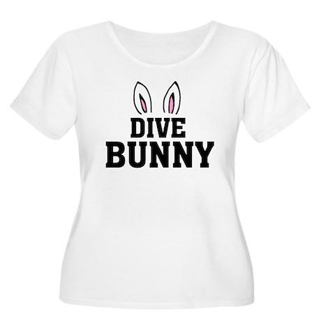 'Dive Bunny' Women's Plus Size Scoop Neck T-Shirt