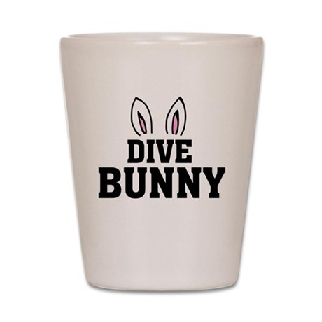 'Dive Bunny' Shot Glass
