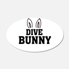 'Dive Bunny' Wall Decal