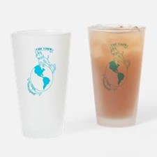 Pit Bull, Globe, and Anchor (Teal) Drinking Glass