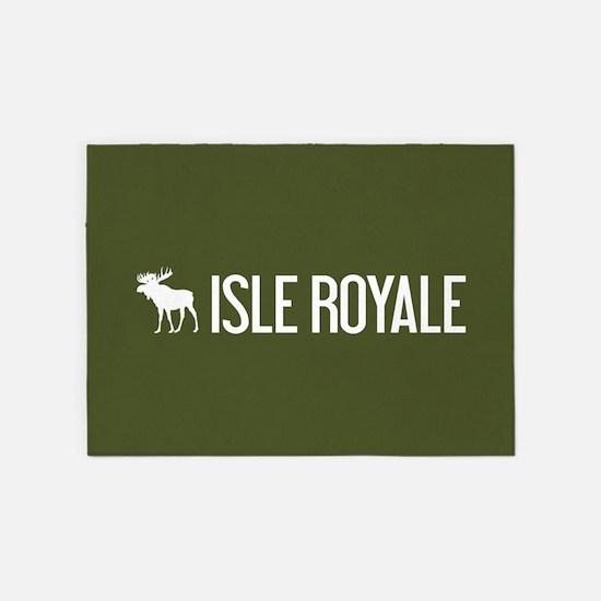 Isle Royale Moose 5'x7'Area Rug