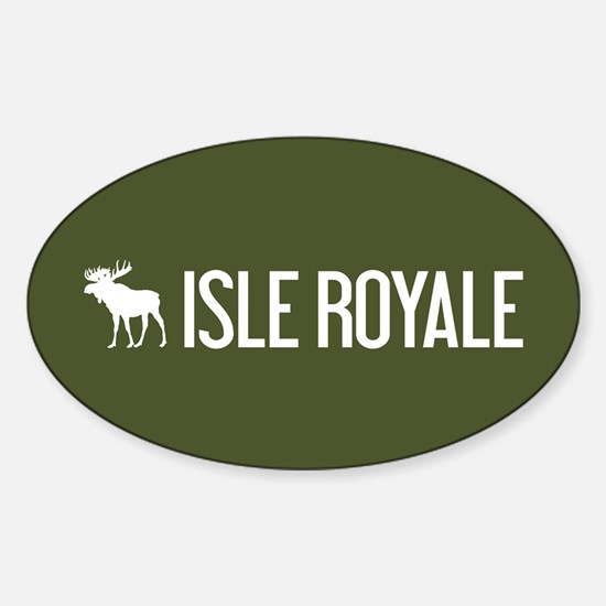 Isle Royale Moose Sticker (Oval)