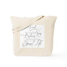 John 3:16 script Tote Bag