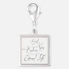 John 3:16 script Silver Square Charm