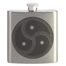 BDSM Emblem - Chrome Look Flask
