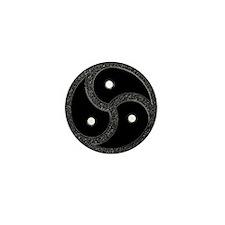 BDSM Emblem - Chrome Look Mini Button (10 pack)