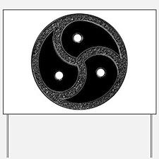 BDSM Emblem - Chrome Look Yard Sign