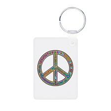 Peace Zentangle Keychains