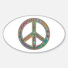 Peace Sticker (Oval)