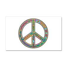 Peace Zentangle Car Magnet 20 x 12