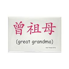 Pat. Great Grandma (Chinese Char. Pink) Magnet