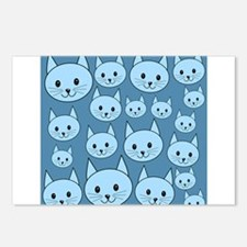 Blue Cats. Postcards (Package of 8)