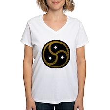 Gold Metal Look BDSM Emblem Shirt
