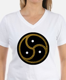 Gold Metal Look BDSM Emblem Shirt
