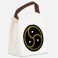 Gold Metal Look BDSM Emblem Canvas Lunch Bag