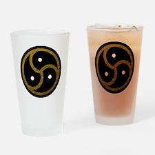 Gold Metal Look BDSM Emblem Drinking Glass