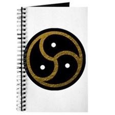 Gold Metal Look BDSM Emblem Journal