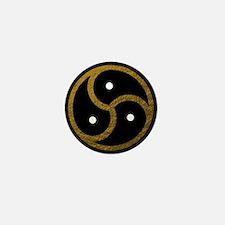 Gold Metal Look BDSM Emblem Mini Button
