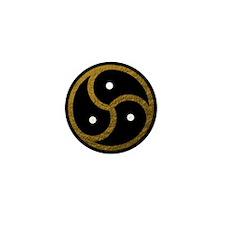 Gold Metal Look BDSM Emblem Mini Button (10 pack)
