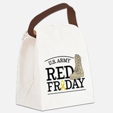 Army RED Friday Boot Canvas Lunch Bag