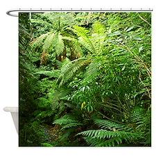 Tree Ferns New Zealand Forest Shower Curtain
