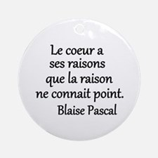 Coeur Pascal Ornament (Round)