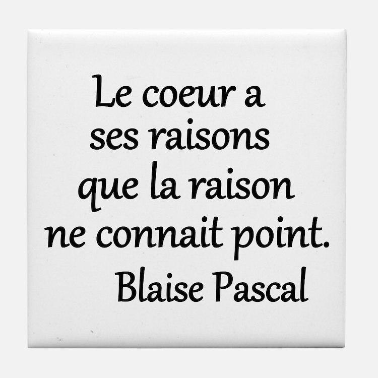 Coeur Pascal Tile Coaster