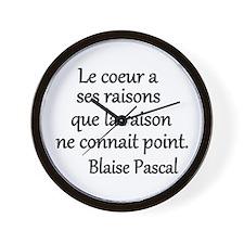 Coeur Pascal Wall Clock