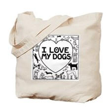 I Love My Dogs - Tote Bag
