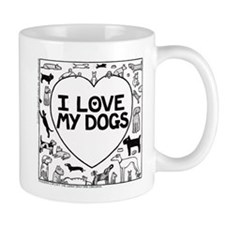 I Love My Dogs - Mug