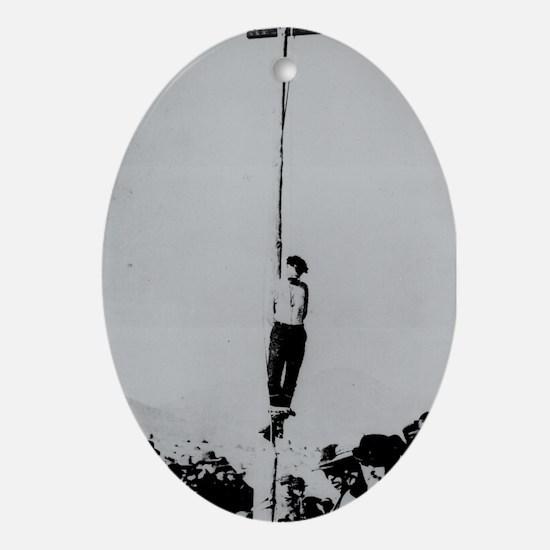 Hangman Oval Ornament