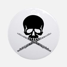 Skull with Flutes Ornament (Round)