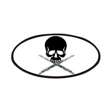 Skull with Flutes Patches