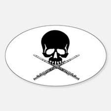 Skull with Flutes Decal
