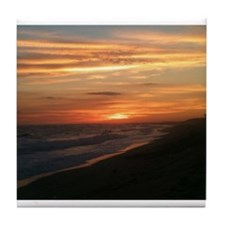 Nantucket Sunset Tile Coaster