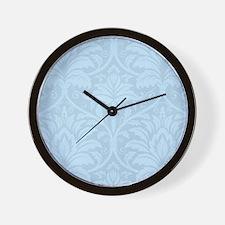 Blue Flourish Wall Clock
