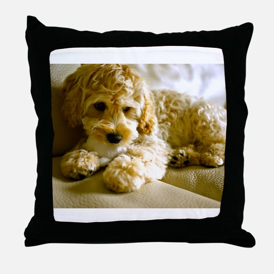 The Cockapoo Puppy Throw Pillow
