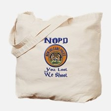 NOPD You Loot We Shoot Tote Bag