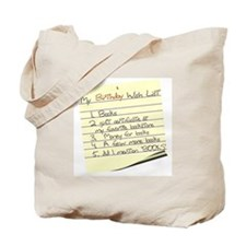My Birthday Wish List Tote Bag