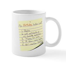 My Birthday Wish List Mug