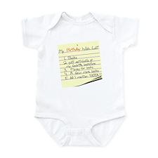 My Birthday Wish List Infant Bodysuit