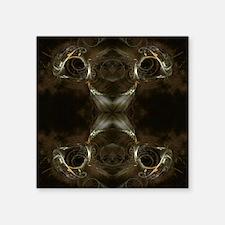 Brown Fractal Pattern. Sticker